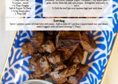 Beef Tips With Tzatziki Sauce