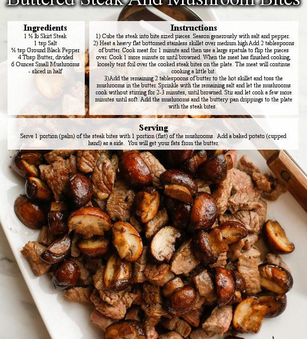Buttered Steak And Mushroom Bites