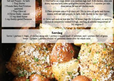 Crock Pot Garlic And Parmesan Chicken With Potatoes